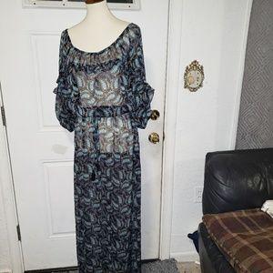 VS Chiffon Maxi Beach Dress Sleeves L/G
